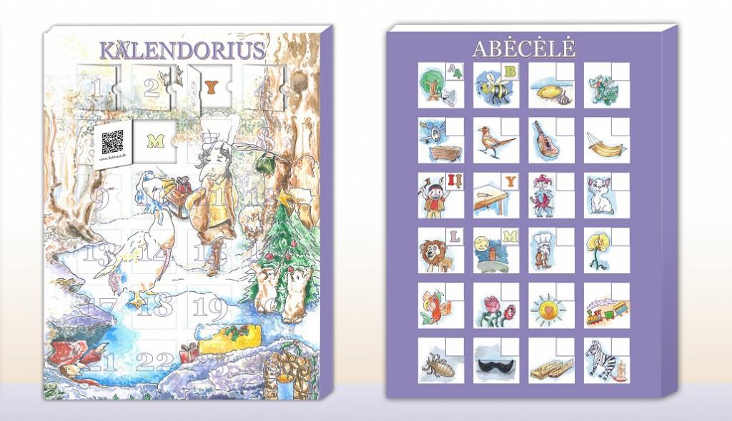 Neringos Jablonskytės-Kelting sumanytas lietuviškas Advento kalendorius vaikams. 2014.