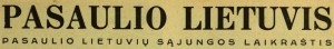 pasaulio lietuvis senas logo
