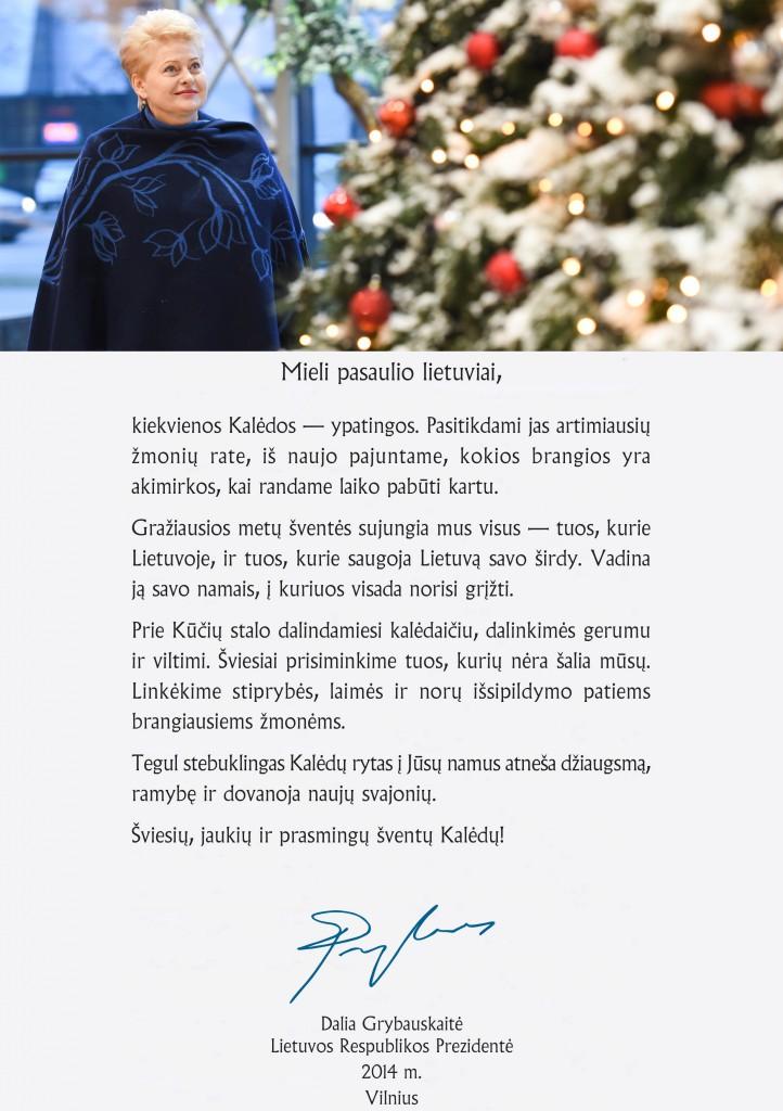 prezidenturos sveikinimas 2014