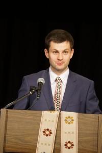 """Justinas Jarusevičius Bostono lietuvių šventėje skaitė pranešimą """"Nepriklausoma Lietuva: praeitis, dabartis ir ateitis""""."""