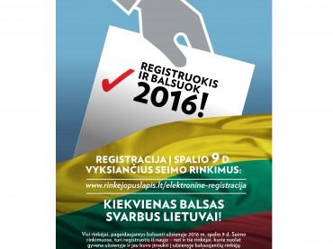 Prasidėjo balsuojančių užsienyje elektroninė registracija