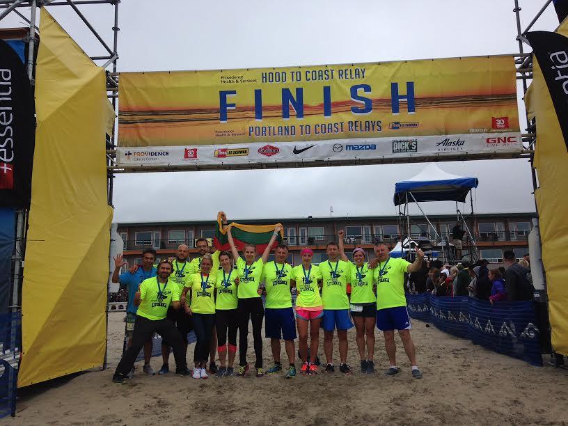 """Komanda """"Lituanica"""" jau keletą metų paeiliui sėkmingai finišuoja epiniame """"Hood to Coast"""" maratone"""