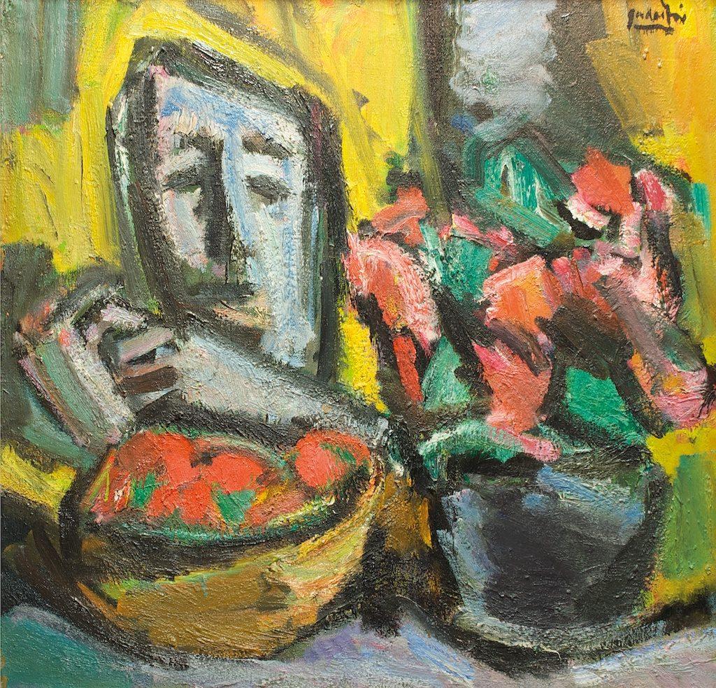 """Antanas Gudaitis """"Veidas ir gėlės """" (1980)"""