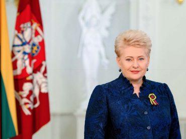 Lietuvos Respublikos Prezidentės Dalios Grybauskaitės sveikinimas Kovo 11-osios proga