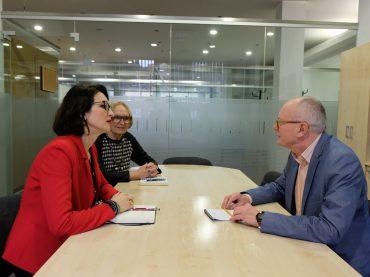 PLB pirmininkė Dalia Henke susitiko su VLKK pirmininku Audriu Antanaičiu
