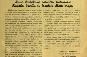 sveikinimas 1938