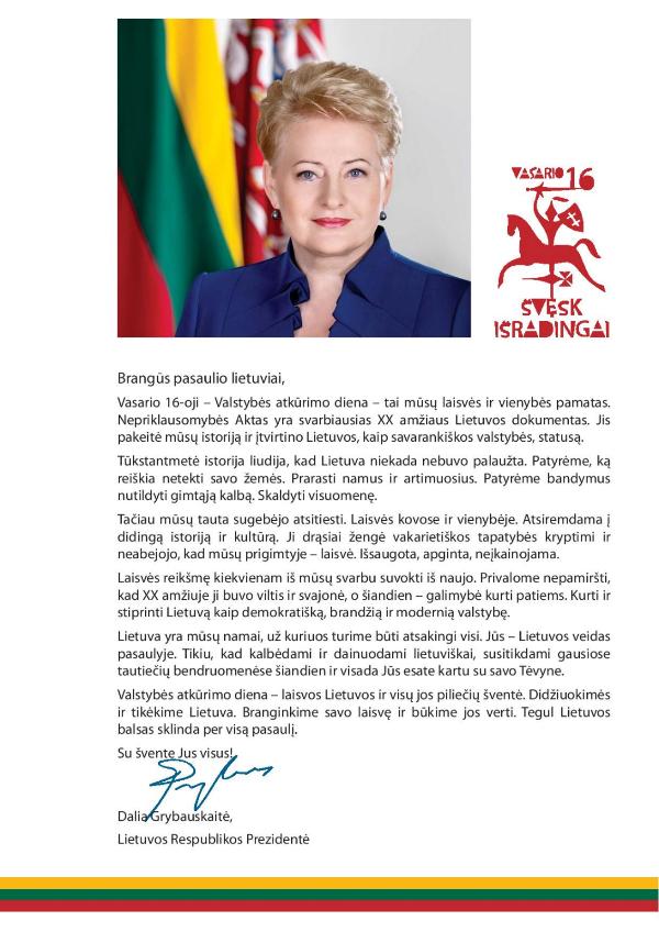 prezidentes vasario 16 2015