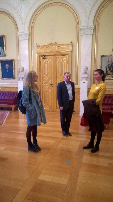 Susitikimas Stortinge -Norvegijos parlamento vadovas