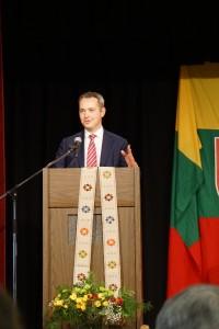 Bostono lietuvių bendruomenę pasveikinęs LR generalinis konsulas New Yorke Julius Pranevičius palinkėjo ir toliau aktyviai dalyvauti lietuviškoje veikloje.