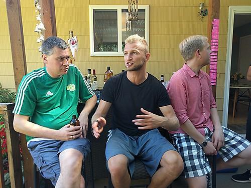V. Andriuškevičius diskutuoja apie Lietuvos sporto padėtį su Portlando lietuviais