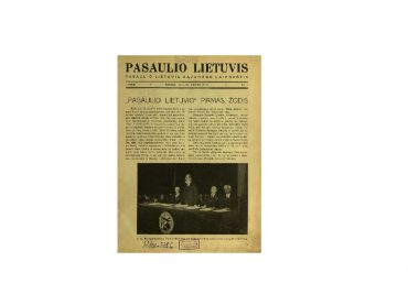 """Apie pirmąjį """"Pasaulio lietuvį"""" (1937–1940)"""