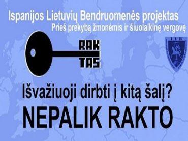 Su šiuolaikine vergove Ispanijos lietuviai kovoja šiuolaikinėmis priemonėmis