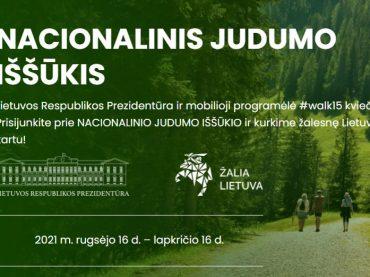 Pasaulio lietuviai kviečiami prisijunkti prie NACIONALINIO JUDUMO IŠŠŪKIO